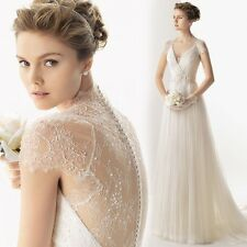 o2015 new lace Wedding Dress Bridal Gown Stock size 2 4 6 8 10 12 14.