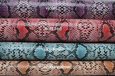 Fat Quarter Snake Skin Faux Leather For Bags&Purses Fabric,Upholstery Leather,PU