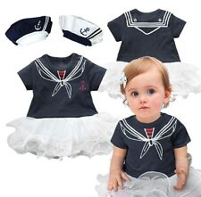 Baby Girl Sailor Tutu Dress Halloween Party Costume Dress Outfit+HAT Set 3-18M