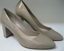 Clark's ladies court shoes. Blissful Cloud. Shingle patent leather. D width.