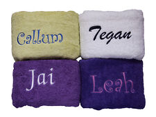 Personalised Embroidered Bath Sheet / Bath Towel With Free Name Embroidery