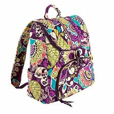 Vera Bradley Double Zip Backpack Bookbag-multi-colors-Free shp-$99-40%off
