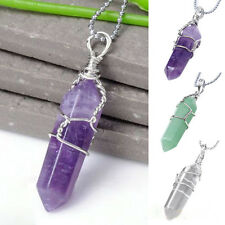 Cool Natural Crystal Quartz Healing Chakra Bead Stone Pendant For Necklace L3