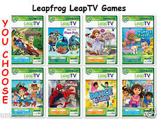 LEAP TV ~ LEAPFROG LEAPTV LEARNING GAMES ~ Spiderman, Jake, Sofia, sports & more