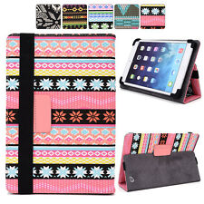 "A Tribal Canvas Adjustable Folding Folio Cover & Touch Guard fits 9"" Tablet-s"