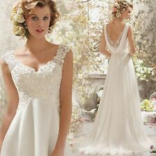 """ Fashion Hot Lace Wedding Dress Bridal Gown Stocked Size2 4 6 8 10 12 14"