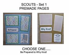 """""""SCOUTS"""" -SET 1 - Premade Page 12x12-Choose One-Just Add Pics!"""