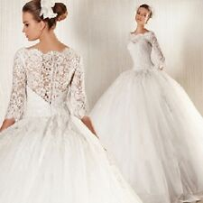 White Hot Lace Mermaid Wedding Dress Bridal Gown Stocked Size2 4 6 8 10 12  14.