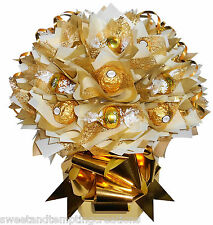 VALENTINES CHOCOLATE BOUQUET LUXURY GIFT - TABLE CENTREPIECE SWEET CANDY BOUQUET