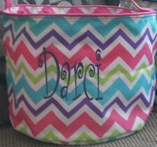 PERSONALIZED MONOGRAMMED CHEVRON EASTER BUCKET BASKET FREE SHIPPING & MONOGRAM