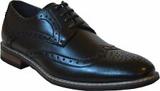 New Men's Lace-Up Oxfords Wedding Formal Church Party Dress Shoes Black-Conrd 02