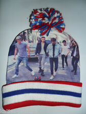 PRIMARK GIRLS LADIES ONE DIRECTION 1D BAND PHOTO BOBBLE HAT BEANIE ONE SIZE NEW