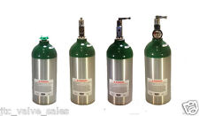 Catalina Aluminum Oxygen Cylinder Green Shoulder Tank C size 9 CF For Emergency