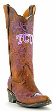 Gameday Texas Christian University TCU Horned Frogs Womens Cowboy Boots Brown