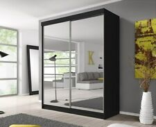'MU' Wardrobes, 2 sliding doors 203 cm perfect interior gloss mirror glass wood