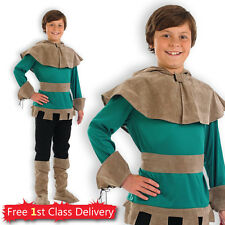 Boys Robin Hood Fancy Dress Costume Medieval World Book Day Outfit