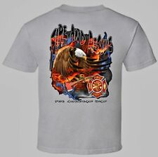 Back Imprint Fireman Axe Fire Department Hero to the Rescue White Color T-shirts