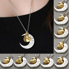 Fashion Charms Jewelry I Love You To The Moon And Back Necklace Valentine Gift