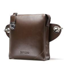 Men's Genuine Leather Fanny Waist Pack Bag Shoulder Messenger Clutch Handbag