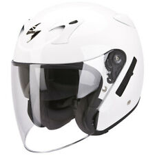 Scorpion Exo-220 Gloss White Open Face Motorcycle Helmet