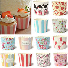 50X Spots Cake Baking Paper Cup Cupcake Muffin Wrapper Cases Liner Wedding Party