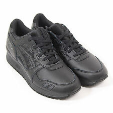 Asics Men's Gel Lyte III Leather Lace Up Trainer Black / Black
