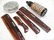 3-Pack Beard Wax Oil and KENT Comb Grooming FORT AMSTERDAM All Handmade