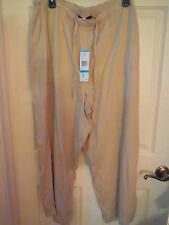 Jones New York Beige Viscose Draw String  Pants   NEW
