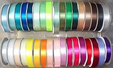 "Single Satin Ribbon 50mm 2"" wide Assorted Colours 2m, 5m 10m lengths"