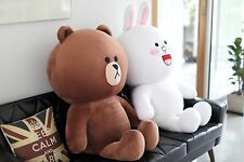 "SNS LINE FRIENDS BROWN CONY Giant Plush Toy Stuffed Character Doll 43"" (2Types)"