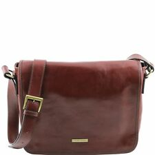 TUSCANY LEATHER messenger briefcase leather shoulder bag Made in Italy