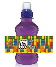 6 x Personalised Fruit Shoot / Water Bottle Label Wrapper - Lego