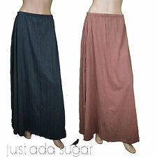 Just Add Sugar Womens Skirt Press Maxi Lined Rust Charcoal Pleat Long RRP $59.95