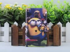 Hot Cartoon Minions Despicable me PU Leather Flip Case Cover For Lenovo Phone 04