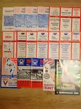 Wakefield Trinity Rugby League Programmes 1964 - 2012