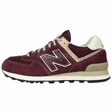 New Balance ML574VWI D Wine Red Grey Suede 2015 Mens Running Shoes Sneakers