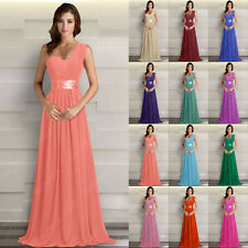 Chiffon Bridesmaid Dress Prom Party Ball Wedding Gown Evening Formal Size 6-26