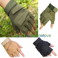 New Outdoor Half Finger Gloves Military Tactical Airsoft Hunting Riding Cycling