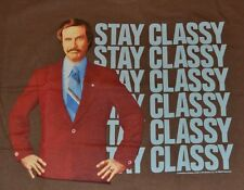 Stay Classy Anchorman Legend of Ron Burgundy T-Shirt Adult Tee Brand New Tags