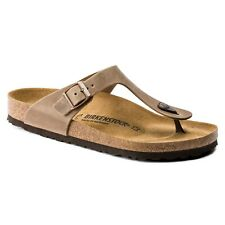Birkenstock Oiled Leather Gizeh $179.95rrp - Tobacco Brown - BNIB