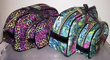 BETSEY JOHNSON 2Pc Dome Cosmetic Cases, Tiger in the Jungle or Thermal Cheetah