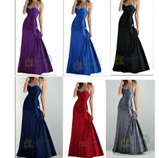 Stock Long Cocktail Ball Gown Evening Prom Bridesmaid Dress Size 6 8 10 12 14 16