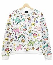 UNICORN SWEATER TOP JUMPER PASTEL GOTH SWAG WOMENS HARAJUKU GIRL TUMBLR CUTE NEW