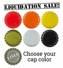 500 NEW Bottle Caps for Brewing Homebrewing Lined Crowns Liquidation Sale