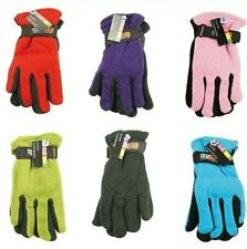 New Women's Lady Winter Insulated Fleece Gloves One Size Red Blue Black Pink