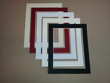 CHOICE OF PICTURE & PHOTO MOUNTS - MIXED COLOURS - WHITE BEVEL