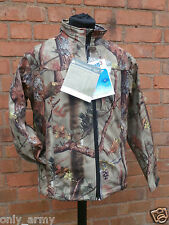 Percussion Realtree Softshell Jacket Waterproof Ghost Camo Hunting Shooting NEW