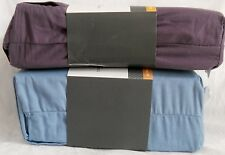 THRESHOLD ULTRA SOFT 300 COUNT FITTED/FLAT SHEETS LAVENDER/BLUE FULL/QUEEN/KING