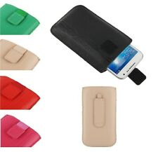 Pouch Case Lines Embossing Belt Clip Pull VELCRO para SAMSUNG Galaxy Core Prime