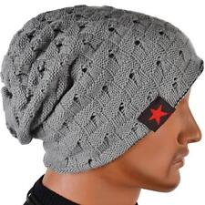 cheap price Boy Knit Beanie Reversible Baggy Cap Skull Chunky Winter Hats 7color